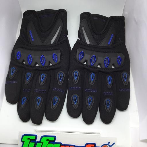 ถุงมือ (SCOYCO) MC 10 SIZE L เต็มนิ้ว สีฟ้า
